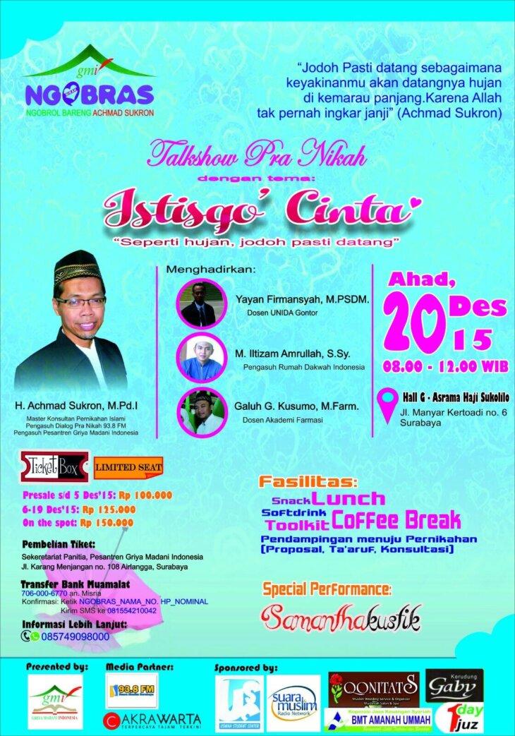 Dialog Pra-Nikah NGObrol Bareng Achmad Sukron (NGOBRAS)